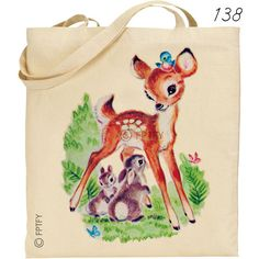 Vintage Deer Bluebirds and Cute Animals Two LARGE Digital Vintage Image Download Sheet Transfer To Totes Pillows Tea Towels T-Shirts. $3.75, via Etsy.