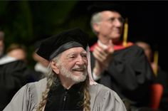 Willie Nelson receives an honorary doctor of music degrees during the 2013 Berklee College Of Music Commencement at Berklee College of Music on May 11 in Boston.