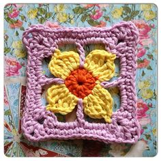 Free pattern for Homely Blanket Quest square no 20  ✿Teresa Restegui http://www.pinterest.com/teretegui/✿