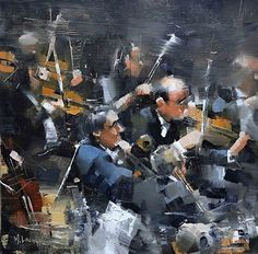 Symphony Two by Mark Lague Oil ~ 11 x 11