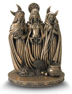Magickal Ritual Sacred Tools:  A statue of the Goddess Brighid in her three aspects, for an altar.