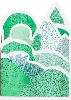 In the Garden - creative cutouts and a lot of green patterns