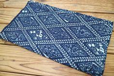 Japanese vintage indigo KATAZOME fabric 164x34cm Free