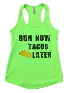 """Run Now Tacos Later""í«ÌÎ_ Awesome very high quality Flowy Tank Top. Workout in class, very soft material. Super lightweight around 5 ounces and very soft. They fit true to size and a little thicker t Workout Attire, Workout Wear, Workout Outfits, Boat Hair, Workout Tanks, Fitness Fashion, Fitness Gear, Fit Women, Athletic Tank Tops"