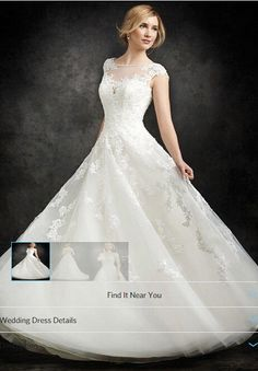 219.00$  Buy now - http://vipdv.justgood.pw/vig/item.php?t=khbc8e5141 - Retro Cap Sleeve Lace Wedding dresses A-line Bridal Gown Ivory Lace Wedding Gown 219.00$