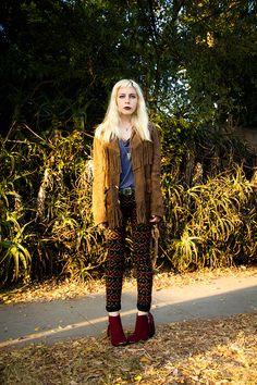 Madeline of #jeangreige masters the fringed jacket.