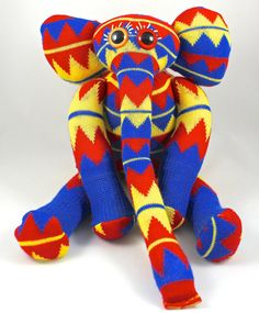 Sock Elephant CARLTON by GusandOllie on Etsy.