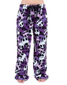 Nightmare Before Christmas Purple Camo Plush Sleep Pants