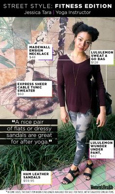 Add These Chic Twists to Your Yoga Outfit for a Post-Workout Dinner Date | Women's Health Magazine