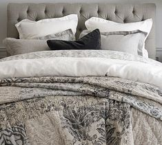 Rest easy with the Tessa Patchwork Quilt & Shams. This relaxed, soft bedding combines traditional damasks and modern ottoman motifs in a stylish and comforting layer for the bed. Pottery Barn Quilts, Pottery Barn Teen Bedding, Bedding Sets, Duvet, Small Furniture, Home Furniture, Outdoor Furniture, Barn Bedrooms