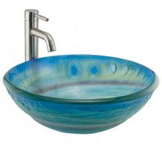 glass sink - good site for sinks of all kinds Glass Vessel Sinks, Vessel Sink Bathroom, Hall Bathroom, Bathroom Ideas, Glass Bathroom, Bath Ideas, Bathroom Remodeling, Master Bathroom, Bathrooms