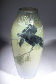 Rookwood Pottery, Cincinatti, Iris Glaze decorated vase by A.R. Valentien.