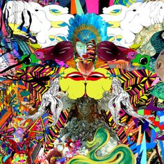 #ArtspaceFaves I am not sure what the artist was doing here but I am inspired because this is so uniquely colorful and would look amazing in any room that needs a pop of color, attitude or boldness!
