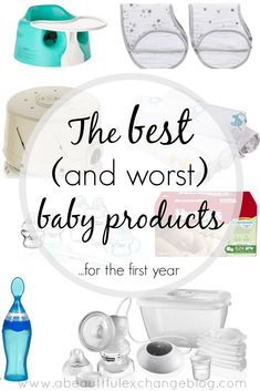 The best and worst baby products for the first year! Great list of ideas to add to baby registry!