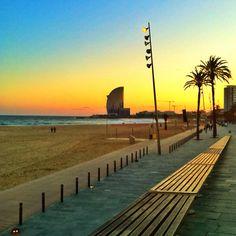 Barceloneta's sunset, Barcelona