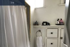 Unit 1 bathroom West Hollywood, Towers, The Unit, Curtains, Bathroom, Home Decor, Normandie, Washroom, Blinds
