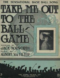 Baseball. Take Me Out to the Ball Game sheet music