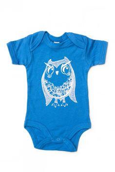 Mama FeelsGood - Funky Owl Baby Grow - Hand Printed, £9.99 + кормительная футболка