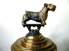 Antique Dog Trophy Vintage Trophy by GreySquirrelAntiques