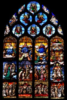 Saint Genes Church - Theirs, France - stained glass window