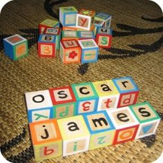Painted Wooden Blocks - 10 Handmade Present ideas for Kids