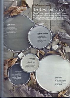 Driftwood Grays. Perfect colors for an open floor plan!