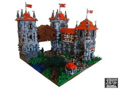 Interesting Lego castle with great detail to stonework.