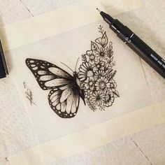 Our Website is the greatest collection of tattoos designs and artists. Search for more Butterfly Tattoo designs. Kunst Tattoos, Neue Tattoos, Body Art Tattoos, Tattoo Drawings, Small Tattoos, Sleeve Tattoos, Cool Tattoos, Tatoos, Classy Tattoos