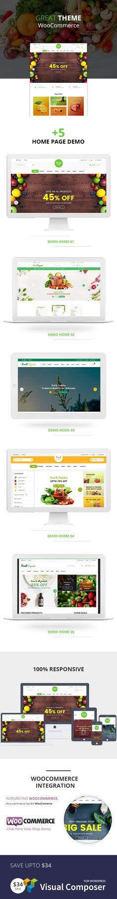 Fruitshop - Responsive #WooCommerce #WordPress #Theme