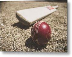 Vintage Sports Metal Print featuring the photograph Antique Cricket Test Match by Ryan Jorgensen