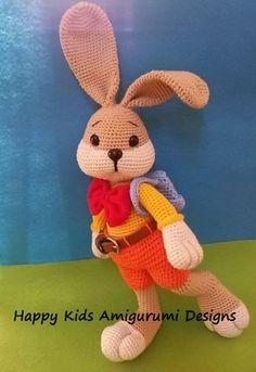 Mesmerizing Crochet an Amigurumi Rabbit Ideas. Lovely Crochet an Amigurumi Rabbit Ideas. Crochet Bunny Pattern, Crochet Motif, Diy Crochet, Crochet Baby, Crochet Patterns, Crochet Blouse, Crochet Stitch, Cat Pattern, Crochet Flowers