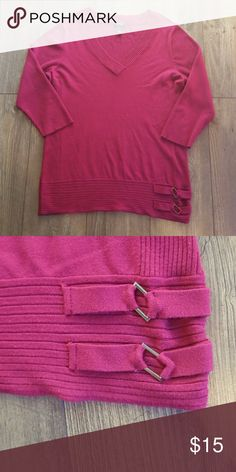 Style and Co plus size 2X tunic sweater Excellent condition  Plus size 2X tunic style sweater  Beautiful fall cranberry color ..color is a little darker than picture  Pet free smoke free home Find more items in my closet to bundle and save on shipping! Style & Co Sweaters