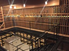 We totally renovated an old basement/store room in Long Island NY to create this bi- level wine cellar with. EuroCave Roll Out Racks on the bottom level ... & 24 best Wine Cellar Design images on Pinterest | Cellar doors Wine ...
