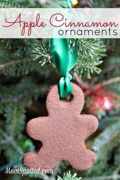 One of my favorite Christmas crafts is making handmade ornaments. We make different kinds each year & one I've wanted to do was Cinnamon ornaments.