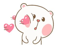 LINE Official Stickers - Sweet Marshmallow Couple 2 Example with GIF Animation Cute Love Images, Cute Couple Cartoon, Cute Cartoon Pictures, Cute Love Gif, Cute Love Cartoons, Cute Cat Gif, My Little Pony Stickers, Cute Stickers, Bear Gif