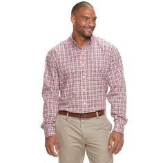 Big & Tall IZOD Advantage Sportflex Regular-Fit Stretch Button-Down Shirt, Men's, Size: Xl Tall, Orange Oth