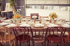 Reception chairs: mixed furniture styles for a fun eclectic look