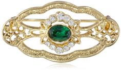 """Downton Abbey """"Jeweled Heirlooms Carded"""" Gold-Tone Crystal Edwardian Emerald Green Navette Center Stone Oval Pin Downton Abbey,http://www.amazon.com/dp/B00EOFQ1M8/ref=cm_sw_r_pi_dp_iKU2sb1343ZWHN7G"""