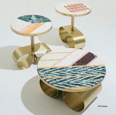 Giant mixed marble earring tables