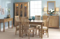 Corndell Nimbus Oak dining room furniture in Satin finish