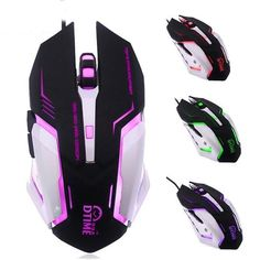 LED Colorful changes Gaming mouse Wired 1.5m optical gamer USB ports computer mauses DPI adjustable 4 keys for PC Laptop game