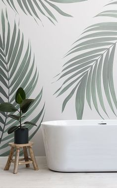 Creating a Scandinavian feature wall is a great way to elevate a Nordic inspired interior in any space of the Scandinavian Wallpaper, Scandinavian Bathroom, Scandinavian Style, Nordic Style, Bathroom Feature Wall, Zen Bathroom, Bathroom Ideas, Feature Walls, Bathroom Designs