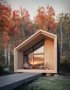 Awesome Modern Tiny House Exterior Design Ideas - There are singles, couples and even families who are opting to live in tiny homes and spend most of their lives traveling and exploring new places. Box Architecture, Sustainable Architecture, Sustainable Design, Japanese Architecture, Ancient Architecture, Classical Architecture, Residential Architecture, Amazing Architecture, Cabin Design