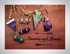 Stones, Charmed, Pendant Necklace, Dreams, Pendants, Bracelets, Jewelry, Bangle Bracelets, Jewellery Making