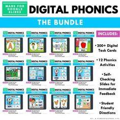 Phonics digital games Sight Word Activities, Phonics Activities, Classroom Activities, Phonics Games Online, Phonics Rules, Preschool Math, Kindergarten Math, Educational Activities, Math Games