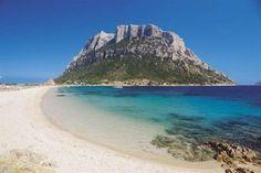 "Tavolara ""Spiaggia di Spalmatore"" Wild and solitary nature; mid-size; white and light-coloured pebbles beach, partly also fine sand; blue s..."