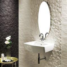 "EliteTile Caprichos 5"" x 4"" Porcelain Wall Tile in White"