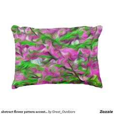 abstract flower pattern accent pillow