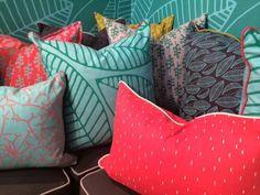 Jungle- Design Team Fabrics Home Decor Shops, Home Decor Items, Interior Design Studio, Interior Design Inspiration, Scatter Cushions, Throw Pillows, North Beach, Chair Upholstery, Creative Decor
