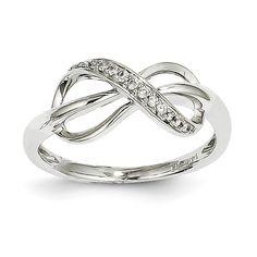 14kt White Gold Diamond Infinity Ring. {Q:Y9636AA}